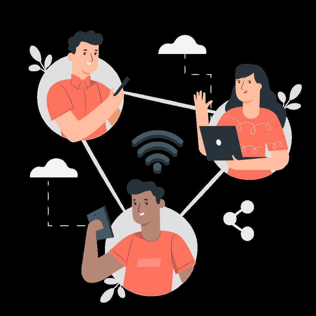 Wi-Fiに接続している人たち