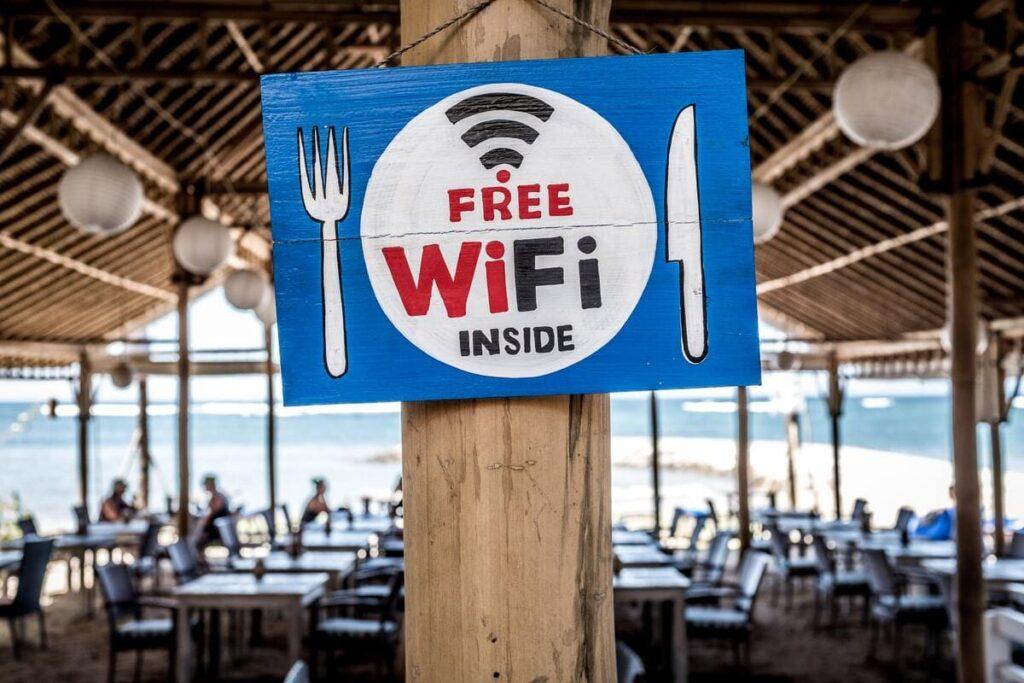 FREE Wi-Fiの表示